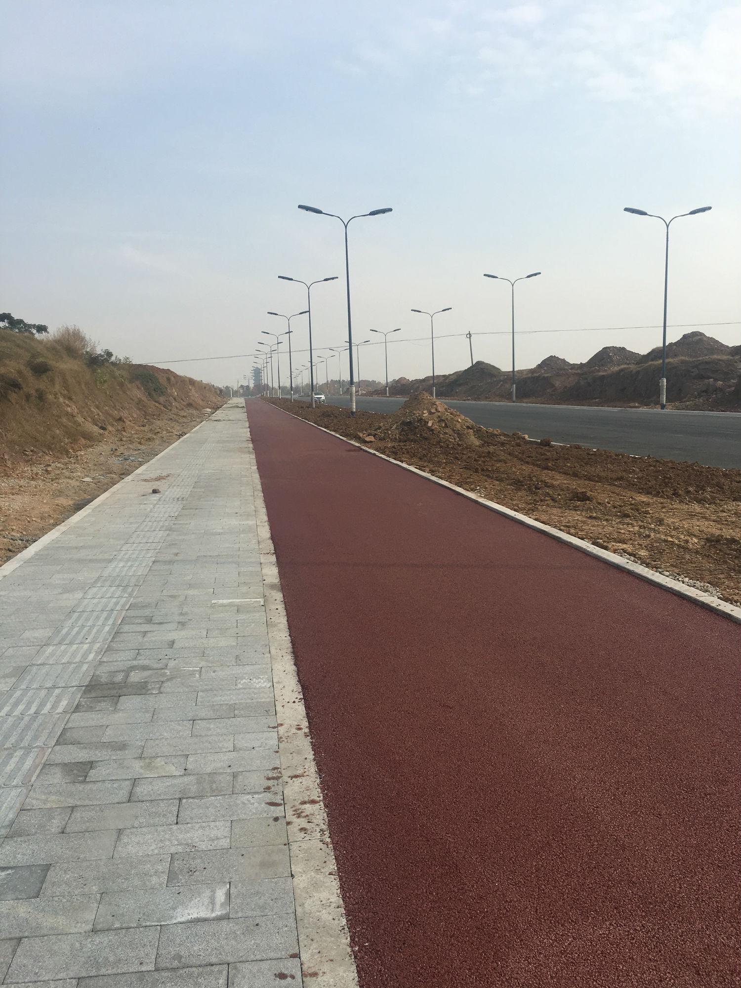 宿迁湖滨新区天河南路彩色沥青道路工程
